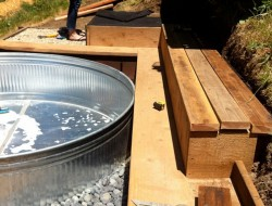 Livestock Tank Turned DIY Pool - Water with peroxide