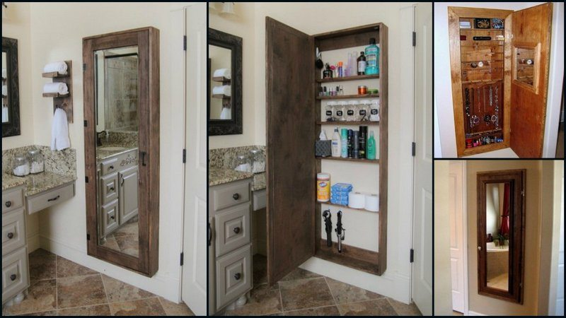 Bathrooms Tend To Lack Storage For The Amount Of Items Actually Needed In  Them. This Is A Great Way To Maximise Storage And Get A Full Length Mirror  In The ...