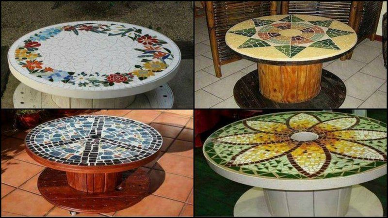 Attirant Repurpose! These Timber Spools End Up As Landfill. Give One A New Life By  Turning It Into A Great Looking Mosaic Table!