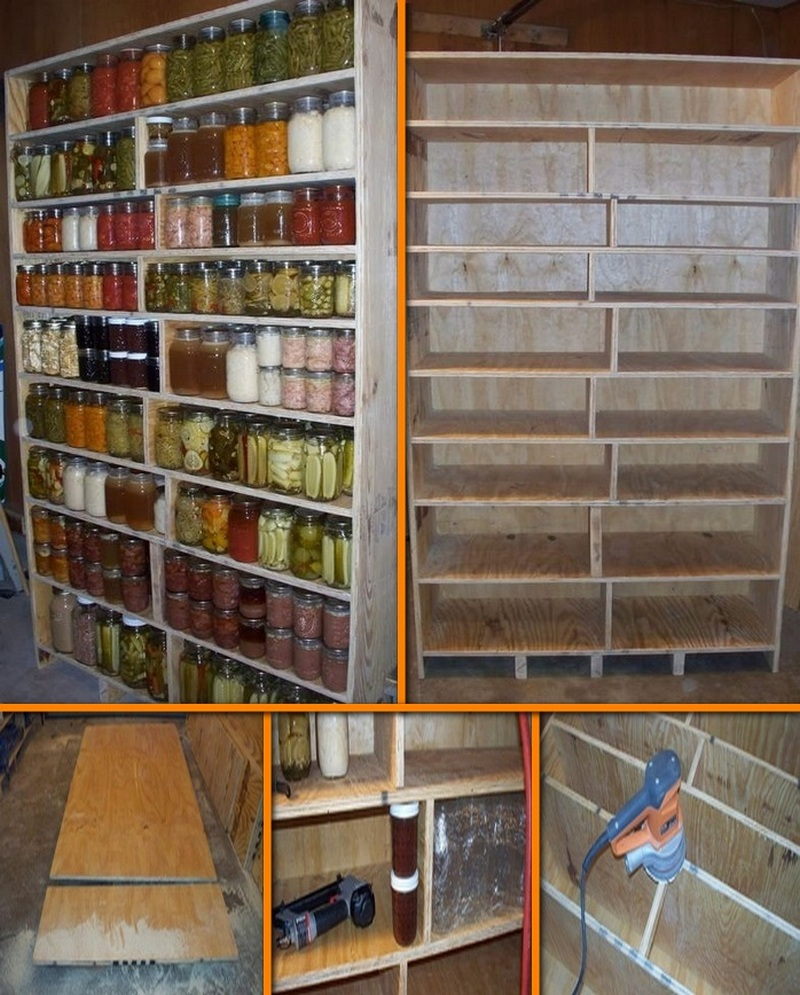 DIY Canned Food Cabinet