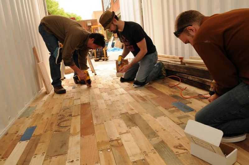DIY Pallet Flooring - The Owner-Builder Network