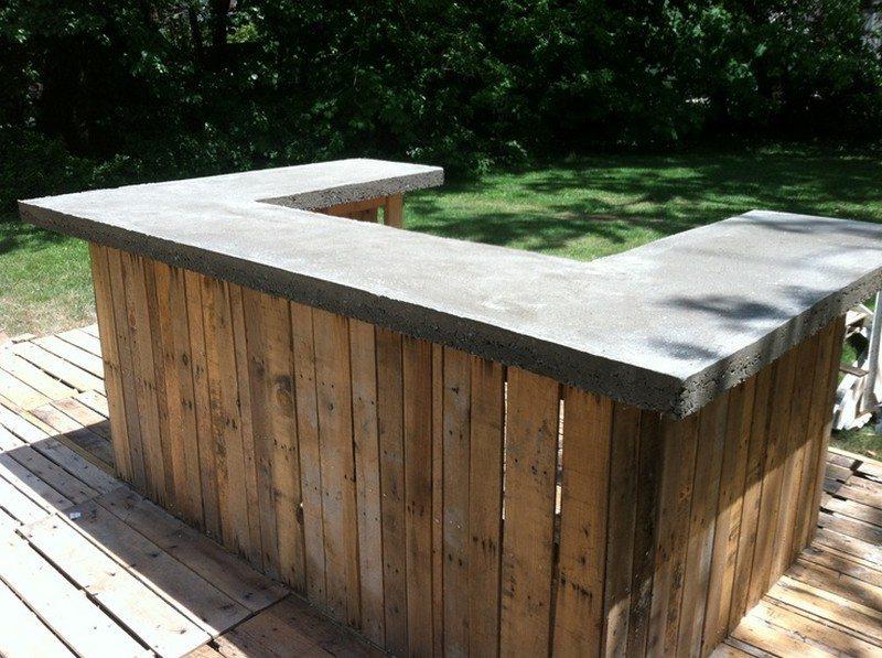 diy pallet outdoor bar and stools the owner builder network. Black Bedroom Furniture Sets. Home Design Ideas