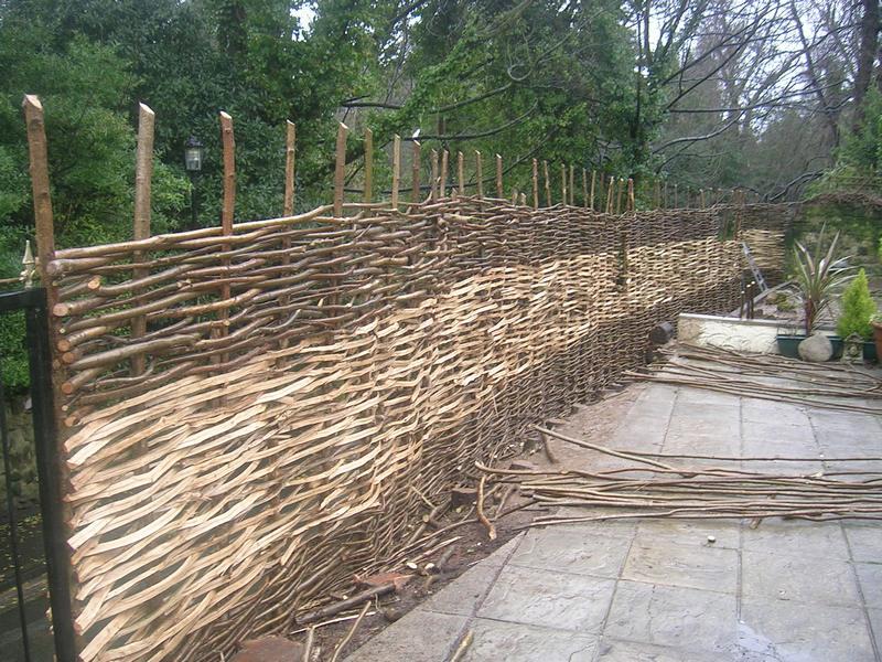 Pine Wattle Fence
