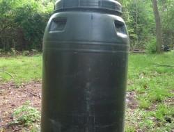 DIY Rain Barrel System - Plastic barrels
