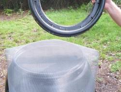 DIY Rain Barrel System - Screen the top of the barrel