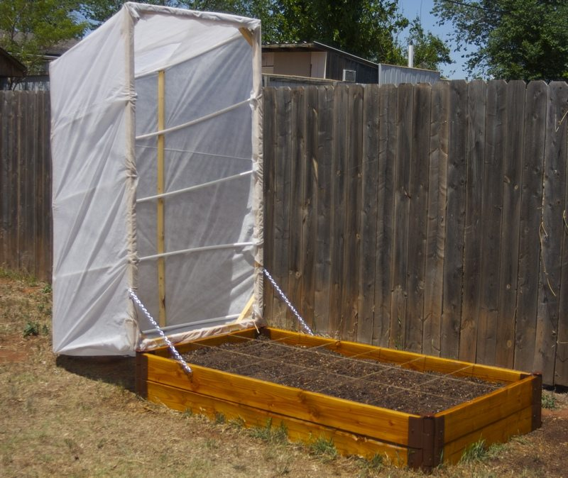 DIY Raised Garden Bed With Cover