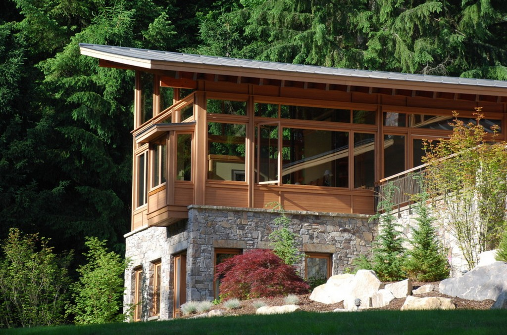 Redmond House- Timber and stone at work