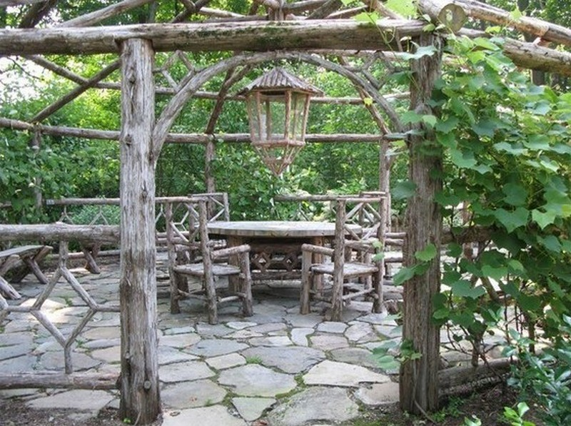 Delicieux Rustic Garden Gazebo