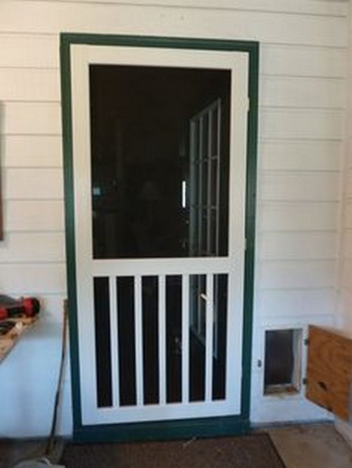 Handmade screen door