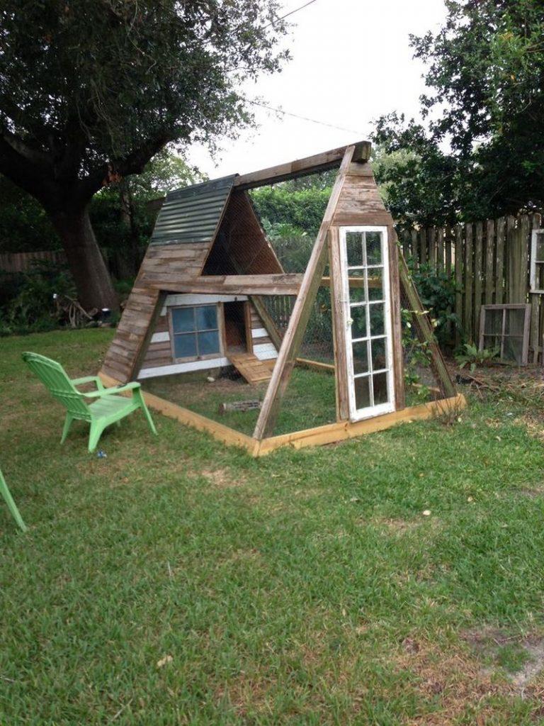 Diy Repurposed Swing Set Chicken Coop The Owner Builder