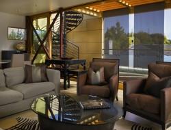 Lake Union Floating Home - Living room area