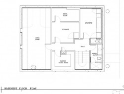Lake Union Floating Home - Basement Floor Plan