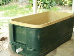 DIY Rustic Cooler
