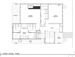 Lake Union Floating Home - First Floor Plan