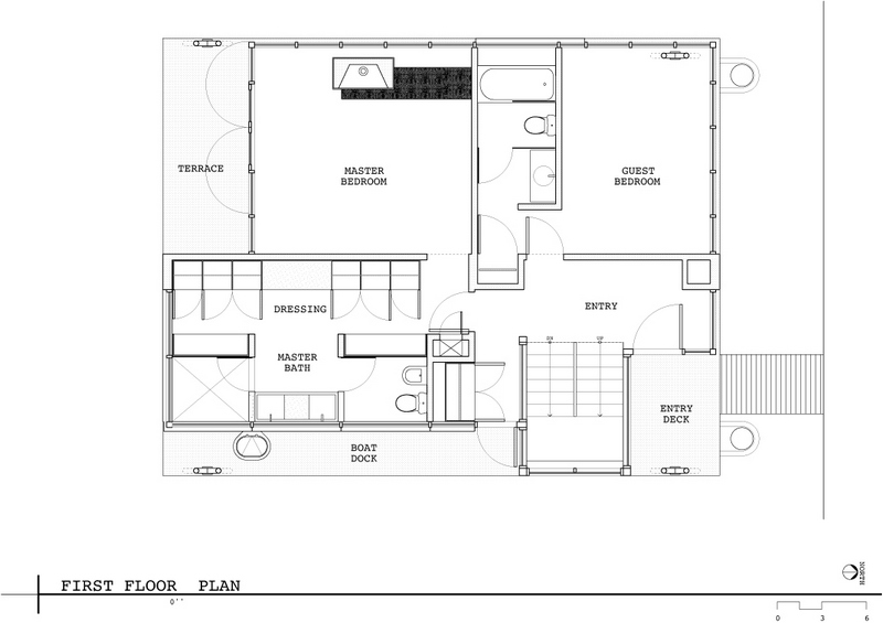 Lake union floating home the owner builder network for Floating house floor plans
