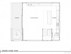 Lake Union Floating Home - Second Floor Plan