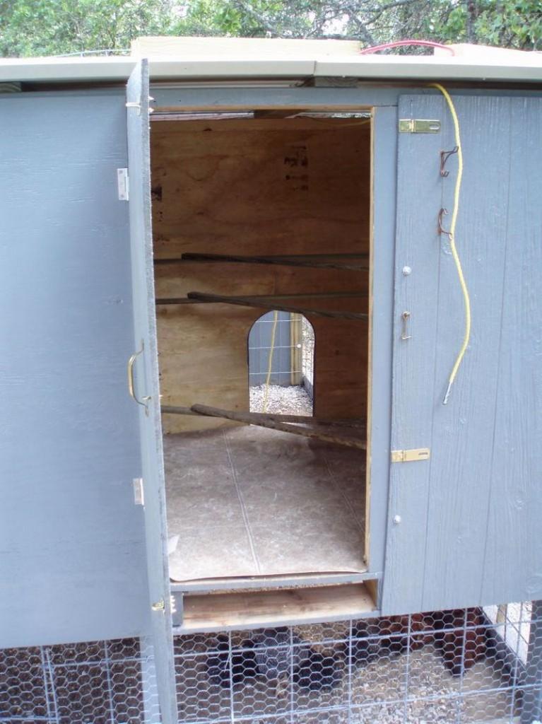 DIY Pallet Chicken Coop - Access Door Open