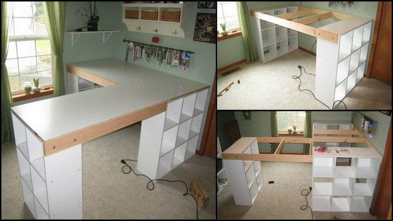 How to build a custom craft desk the owner builder network for Building a craft room