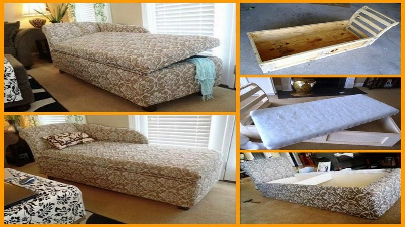 DIY Chaise Lounge With Storage