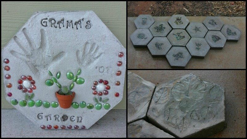 DIY Hexagonal Stepping Stone