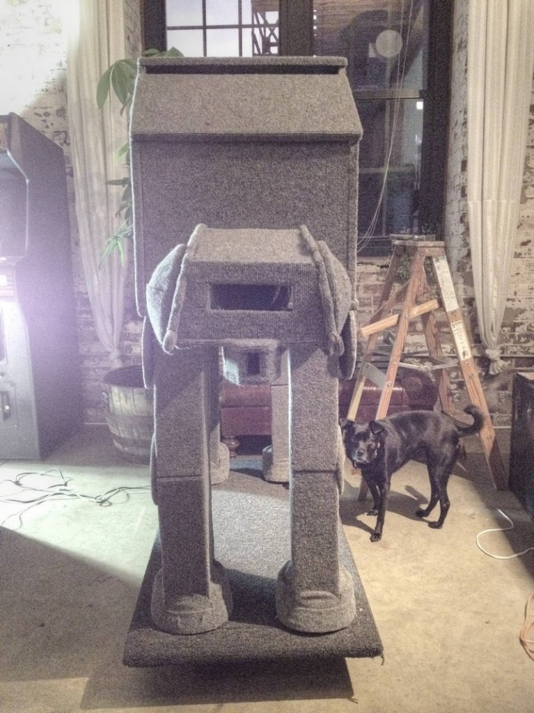 DIY AT AT Cat House - Front View
