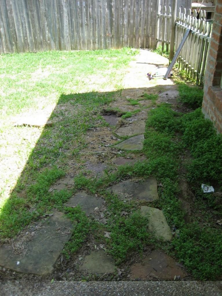 DIY Backyard Walkway - Old Backyard Walkway