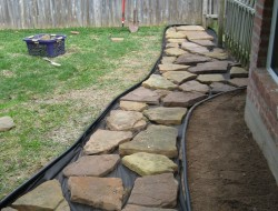 DIY Backyard Walkway - Putting Big rocks