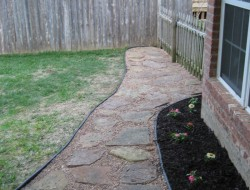 DIY Backyard Walkway - Finish Backyard Walkway