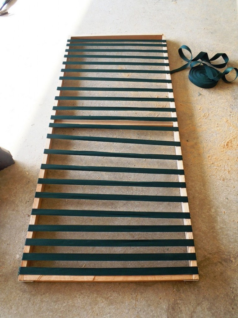 DIY Chaise Lounge with Storage - Making the storage cover frame