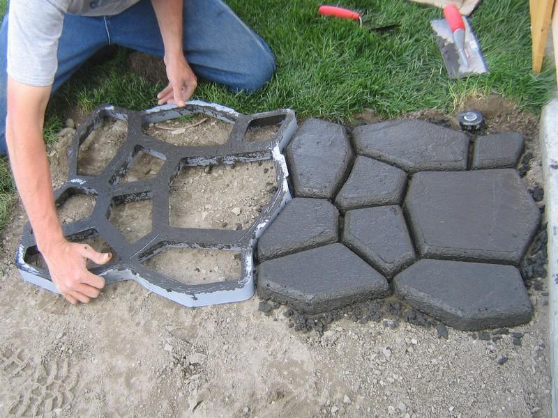 DIY Cobble Stone Path - Framing