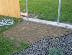 DIY Cobble Stone Path -  Remove the Grass