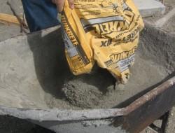 DIY Cobble Stone Path - Mix the bag of concrete