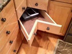 DIY Corner Cabinet Drawers - Finished Corner Cabinet Drawers