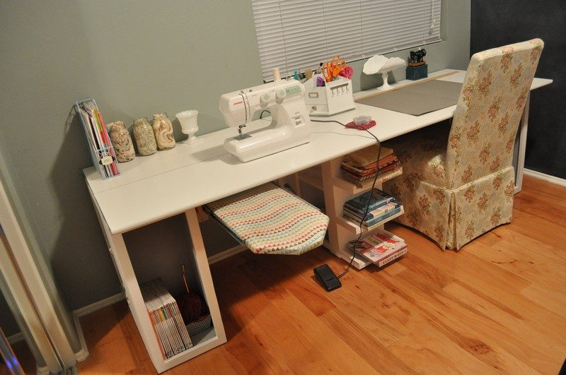 DIY Craft Table - Finished