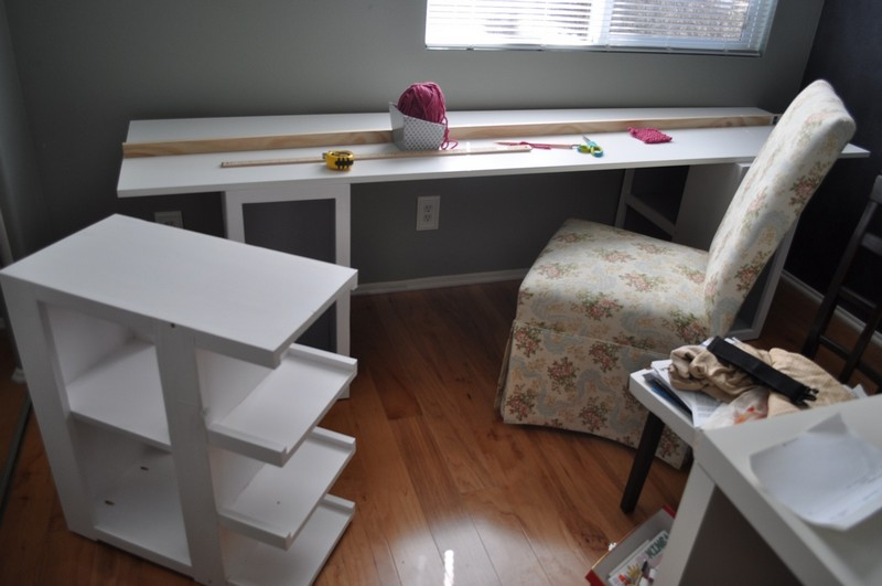 DIY Craft Table -  Sanding and painting
