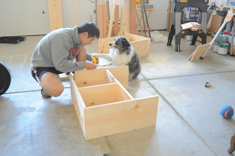 DIY Craft Table - Built a whole frame