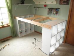 DIY Custom Craft Desk - Drill 2 holes on each side