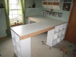 DIY Custom Craft Desk - Take measurements once everything is framed