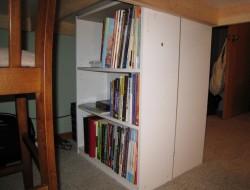 DIY Custom Craft Desk - Bookshelf