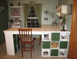 DIY Custom Craft Desk