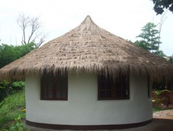 DIY Earthbag Round House - Exterior View