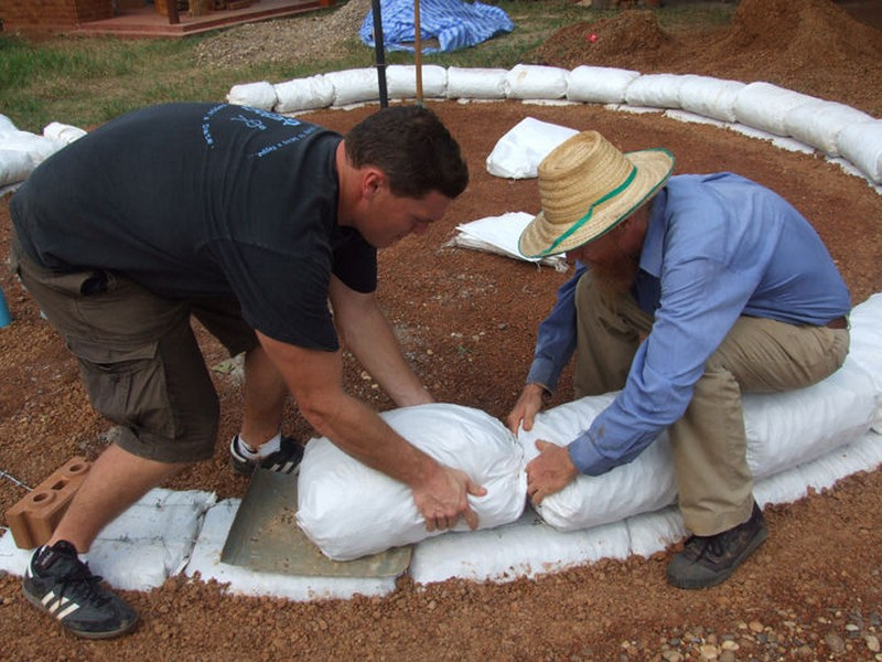 DIY Earthbag Round HousBe - Building the Foundation