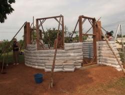 DIY Earthbag Round House - Window Bucks