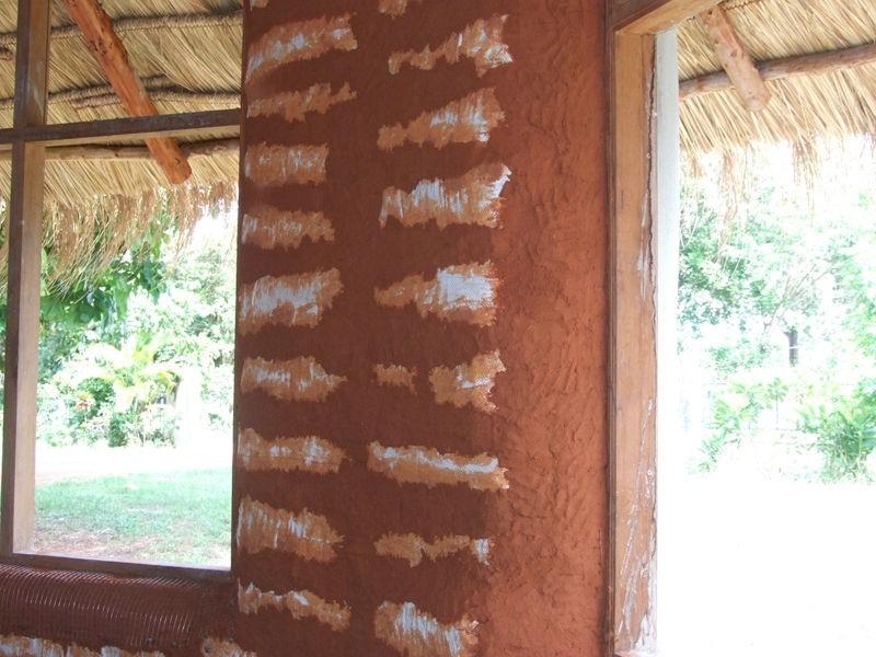 DIY Earthbag Round House - Earthen Plaster on Interior Walls