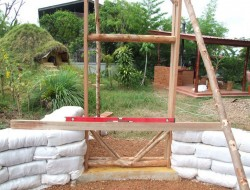 DIY Earthbag Round House Building the door
