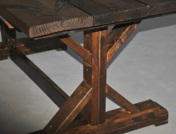DIY Farm Table with Beer/Wine Coolers - Finished Farm Table with Beer/Wine Coolers