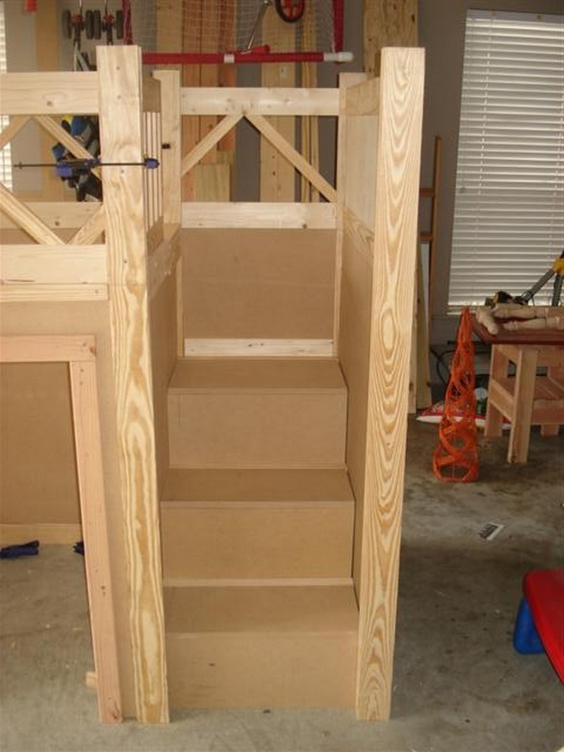 DIY Fire Truck Bunk Bed