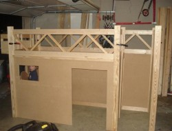 DIY Fire Truck Bunk Bed - No stairs yet
