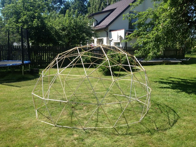 Diy geodesic dome greenhouse making the doors