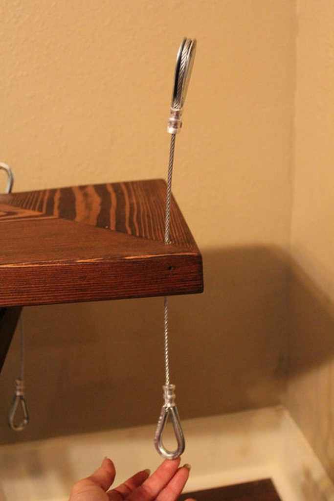 DIY Hanging Shelf - Add the Stops and Finish the Loops